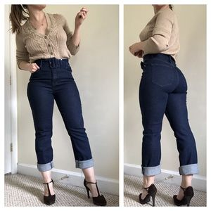Good American 70s Icon High Rise Dark Wash Jeans